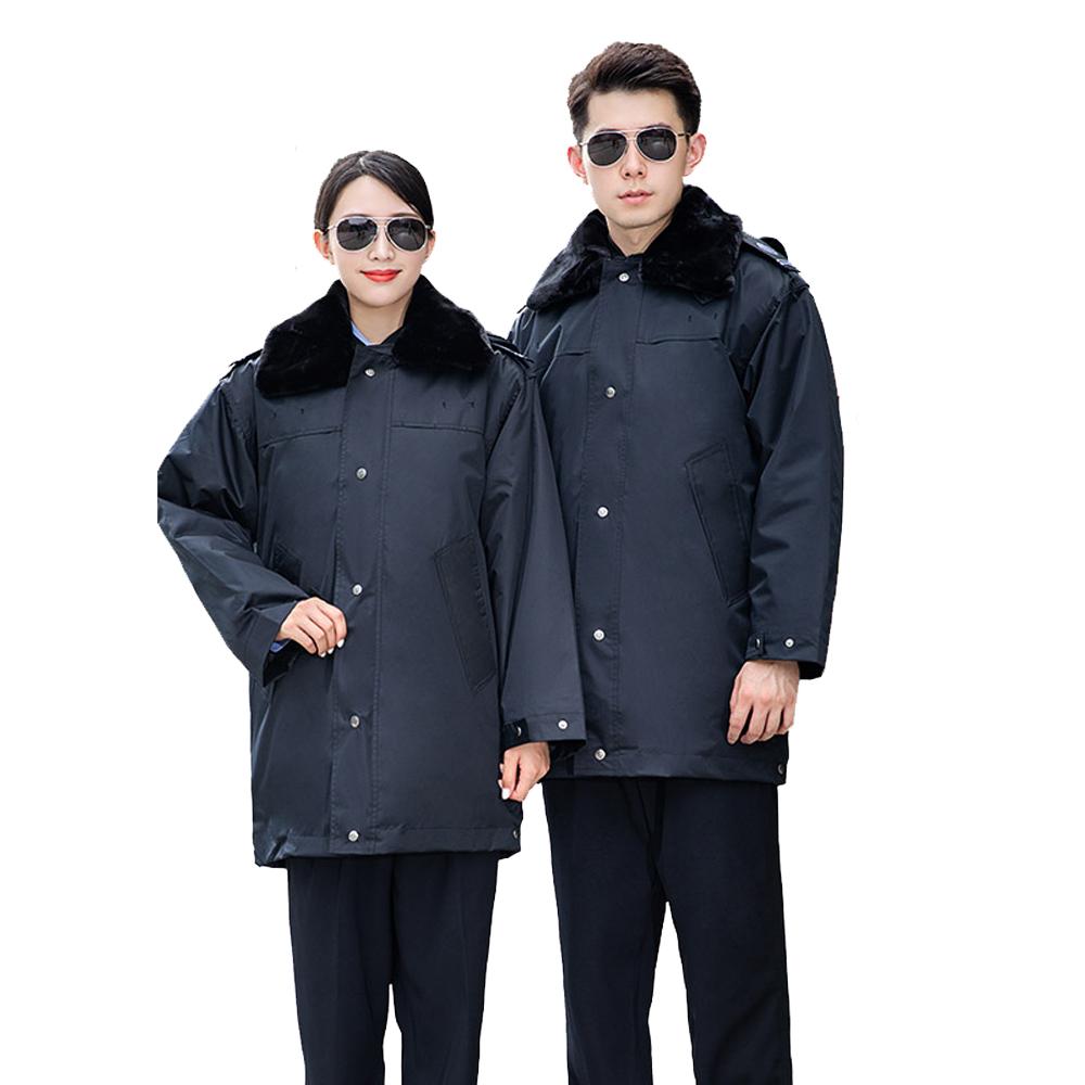 WPS8127 大衣冬裝棉服中款棉衣保安服