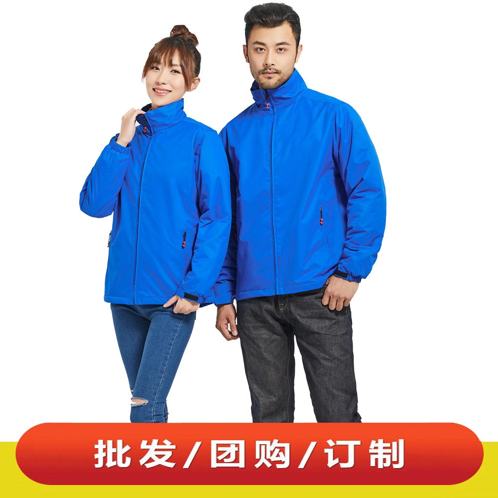 WDX31918 男女款加厚情侶休閑夾克戶外工作服定制LOGO加絨加棉沖鋒衣