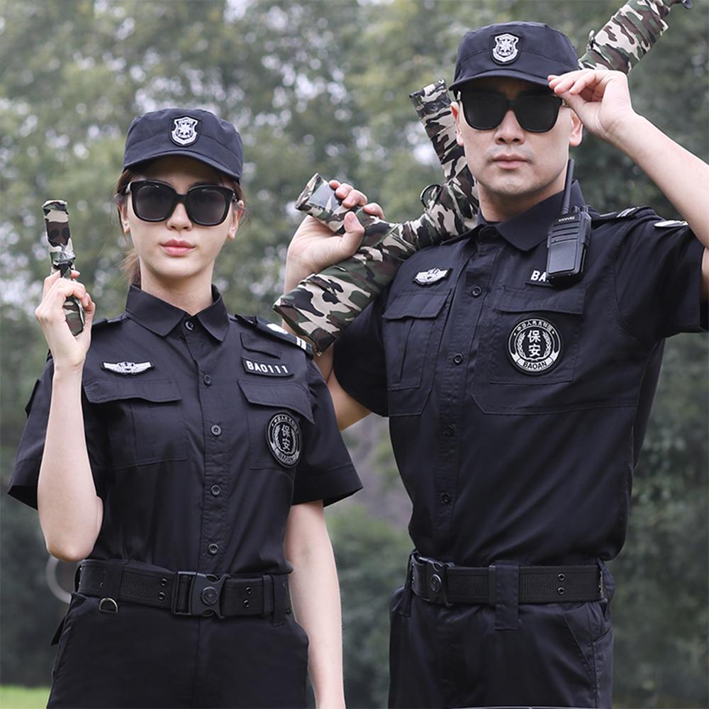 WPS8116 夏季斜紋短袖物業門衛執勤安保制服