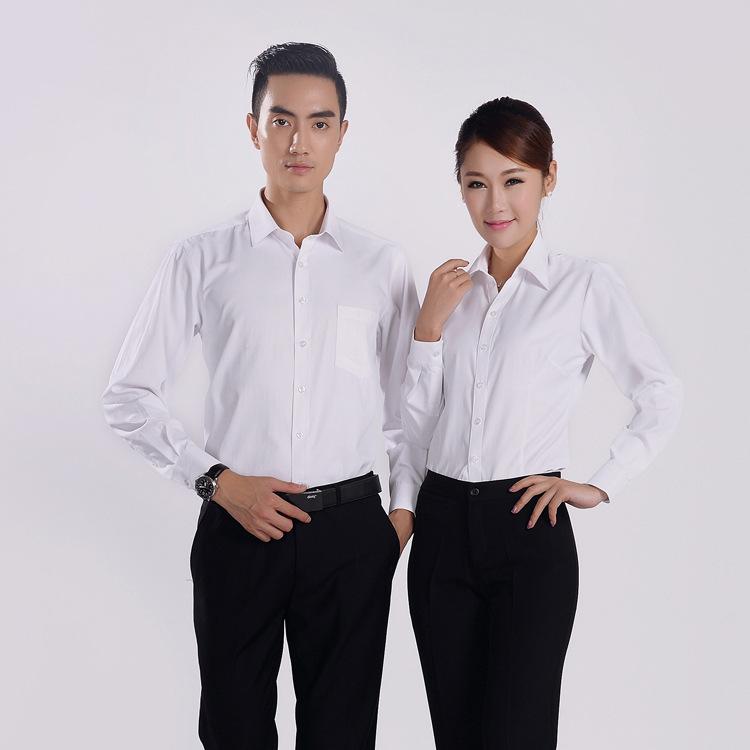 WWY時尚修身斜紋男女長袖襯衫